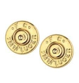 HALF UNITED Ali Bullet Top Stud Earrings-Gold
