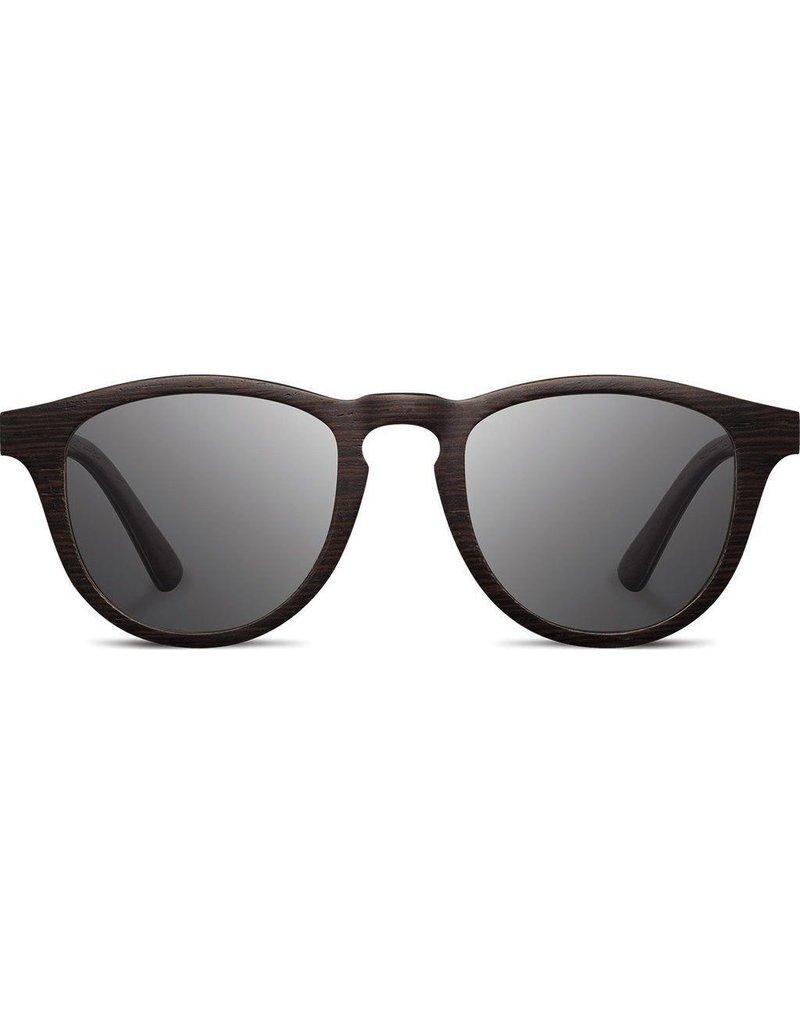 SHWOOD Francis Wood Sunglasses<br /> DARK WALNUT / GREY POLARIZED