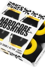 BONES HARDCORE 4PC MED BLACK/YELLOW BUSHINGS