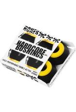 BONES BONES HARDCORE 4PC MED BLACK/YELLOW BUSHINGS