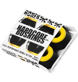 BONES BONES HARDCORE 4PC MED BLACK/YELLOW BUSHINGS