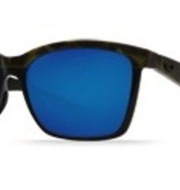 6f4dd32400 Costa Del Mar ANAA SHINY OLIVE TORT ON BLACK BLUE MIRROR 580P