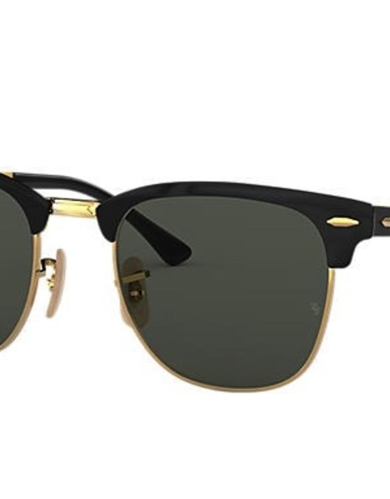 RAYBAN CLUBMASTER METAL GOLD TOP BLACK