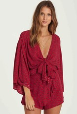 BILLABONG KNOT YOURS WRAP TOP