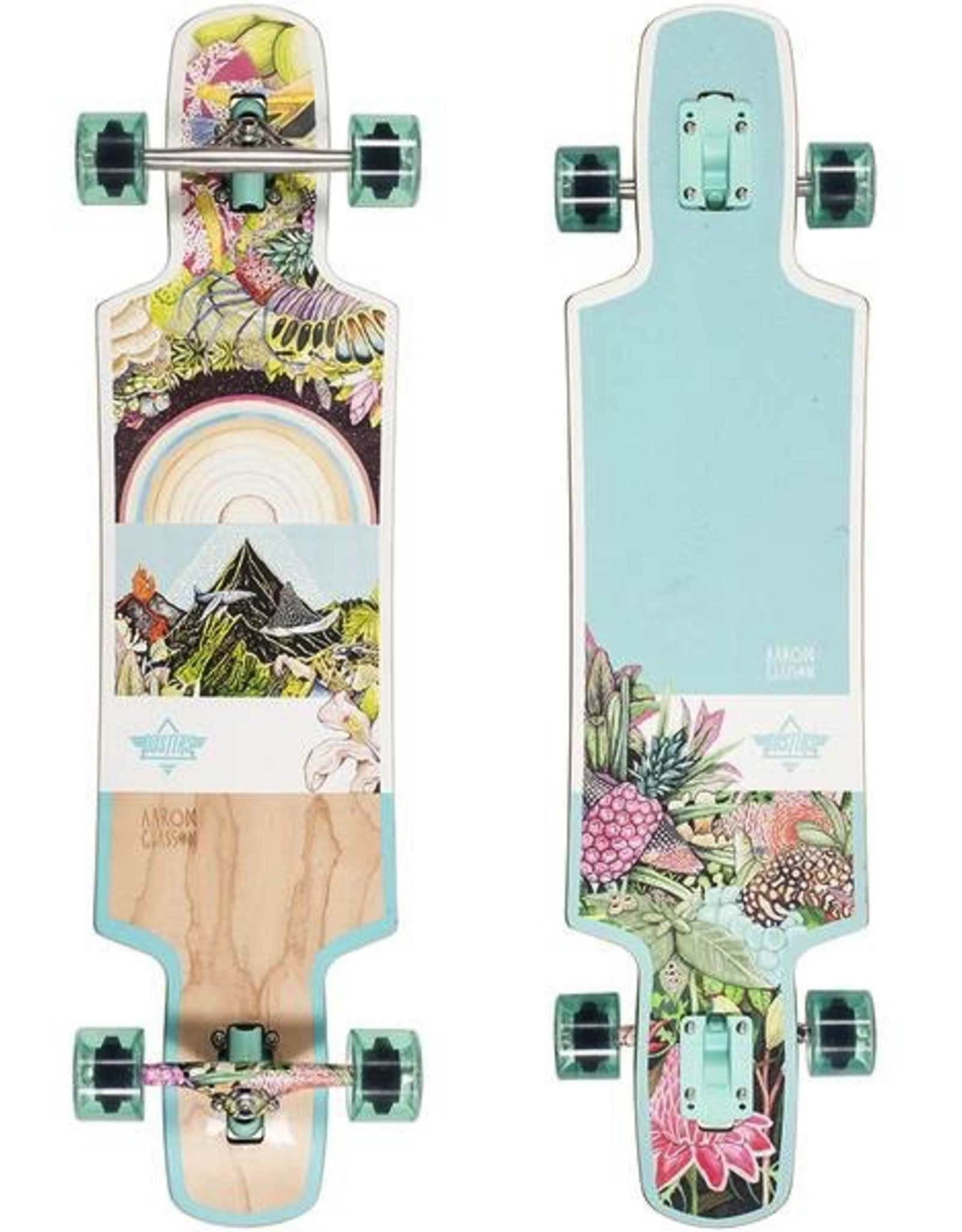 "Dusters Biome Teal 38.5"" Longboard Skateboard"