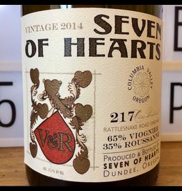 "2014 Seven of Hearts ""Chatte d'Avignon"" Viognier Roussanne Columbia Valley"