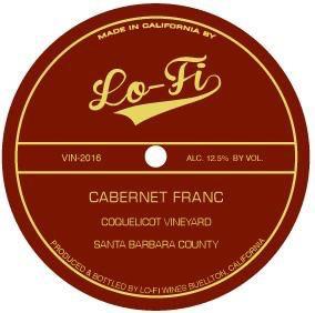 2017 Lo-Fi Coquelicot Vineyard Cabernet Franc Santa Barbara County
