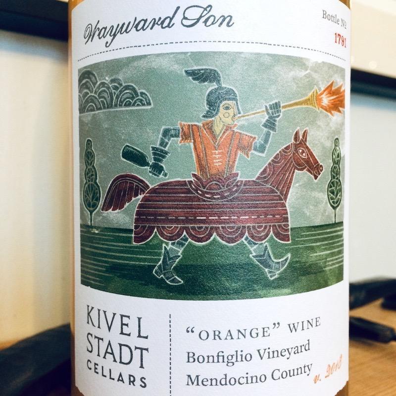 "2018 Kivelstadt Cellars ""Wayward Son"" Orange Wine Bonfiglio Vineyard Mendocino"
