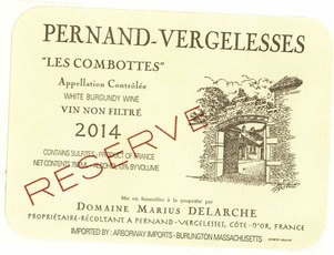 "2017 Marius Delarche Pernand Vergelesses Blanc ""Les Combottes"""