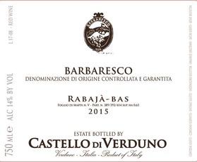 2016 Castello di Verduno Barbaresco Rabajà-Bas