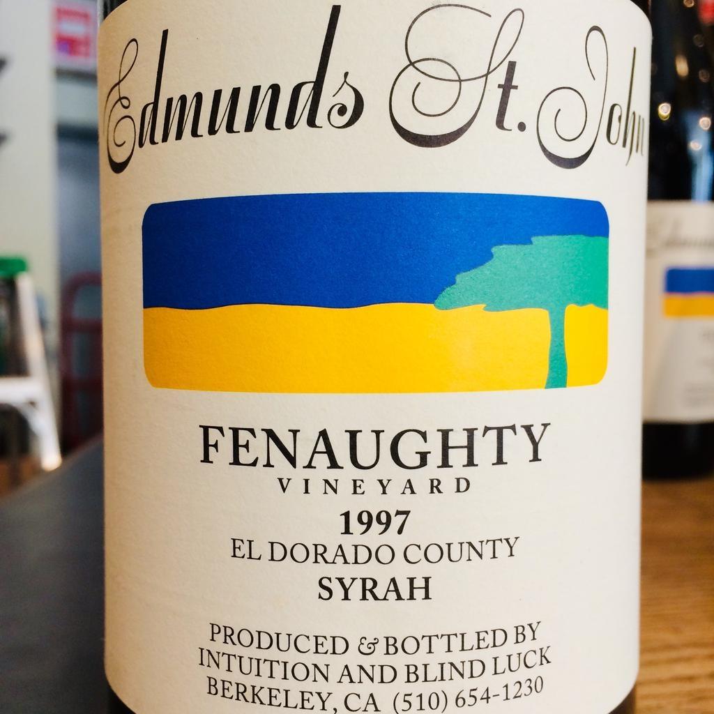 1997 Edmunds St John Fenaughty Vineyard Syrah