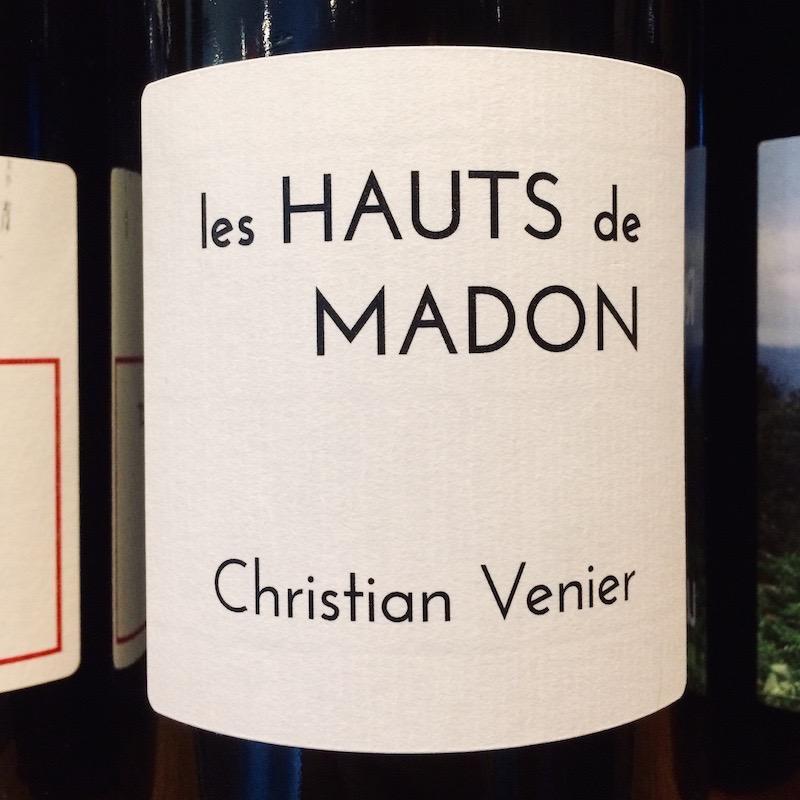 "2018 Christian Venier Cheverny ""Les Hauts de Madon"""