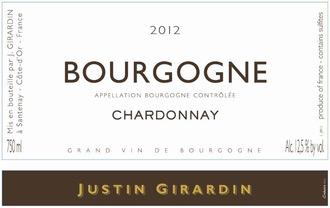 2017 Justin Girardin Bourgogne Blanc