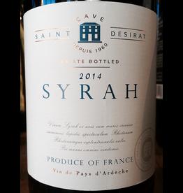 France 2018 Cave Saint Desirat Syrah Vin de Pays d'Ardeche