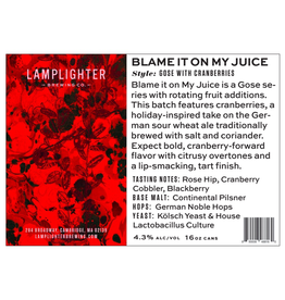 Lamplighter Blame It On My Juice Gose 4pk