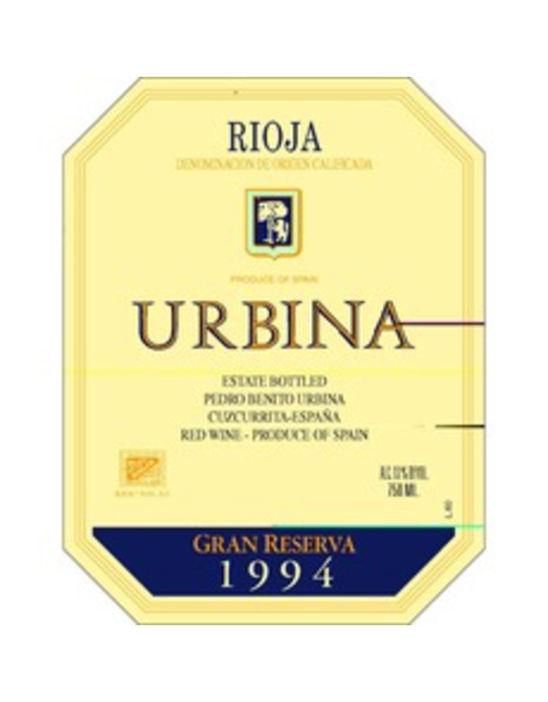 Spain 1999 Urbina Rioja Gran Reserva