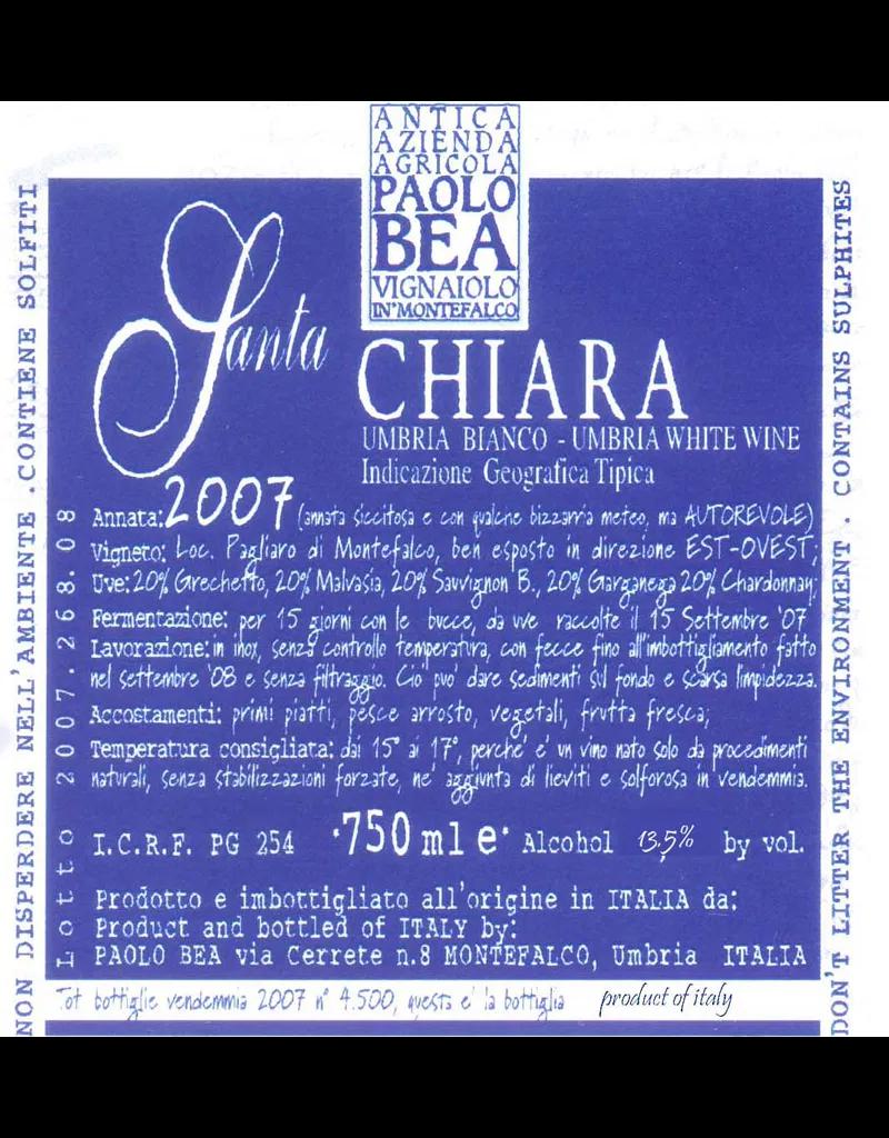 "Italy 2017 Paolo Bea Umbria Bianco ""Santa Chiara"""