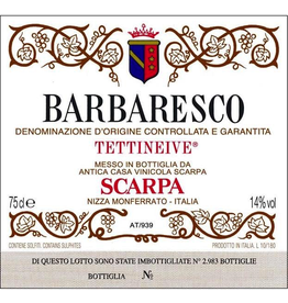 "Italy 1989 Scarpa Barbaresco ""Tettineive"""