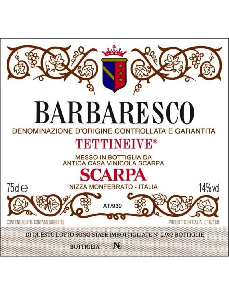 "Italy 1989 Scarpa Barbaresco ""Tettineive"""