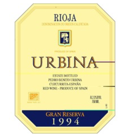 Spain 1994 Urbina Rioja Gran Reserva