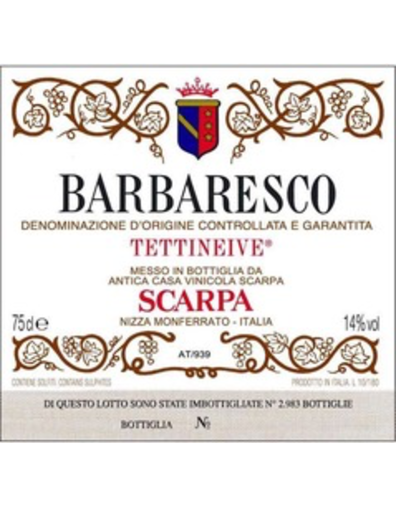 "Italy 1988 Scarpa Barbaresco ""Tettineive"""