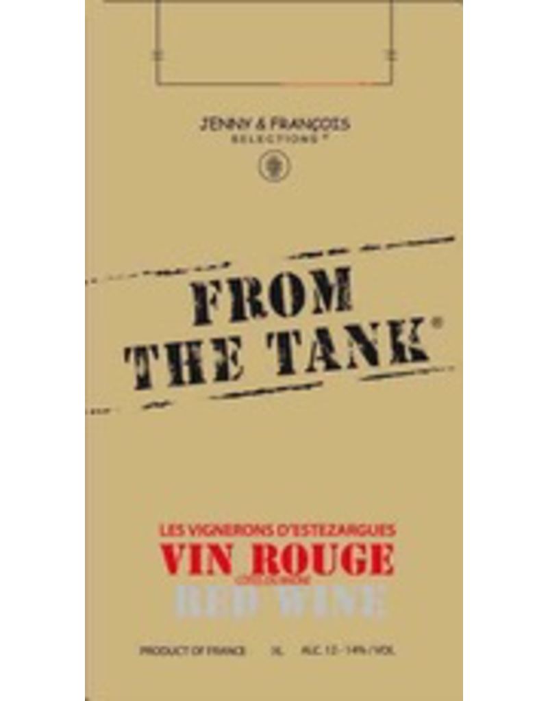"France From the Tank Vin Rouge ""Les Vignerons d'Estezargues"" 3L Bag-in-Box"