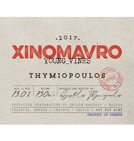 "Greece 2017 Thymiopoulos Noussa Xinomavro ""Young Vines"""