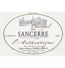 "France 2019 Thomas-Labaille Sancerre Blanc ""L'Authentique"""