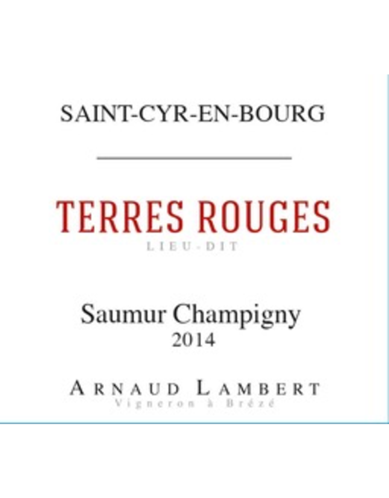 France 2018 Domaine Arnaud Lambert Saumur-Champigny Terres Rouges