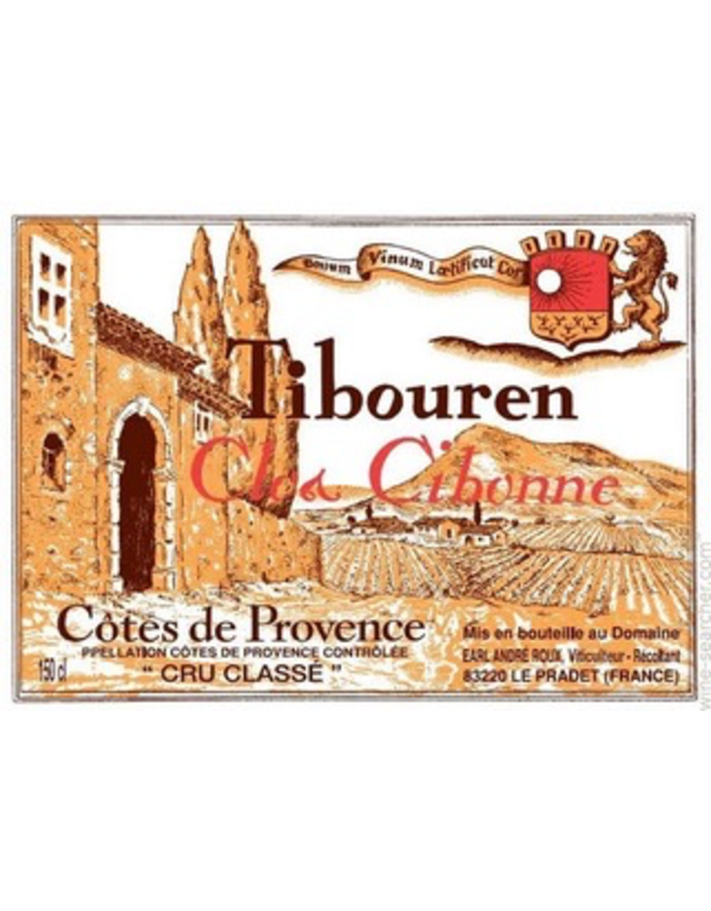 "France 2018 Clos Cibonne Cotes de Provence Cru Classe Tibouren Rose ""Cuvee Tradition"""