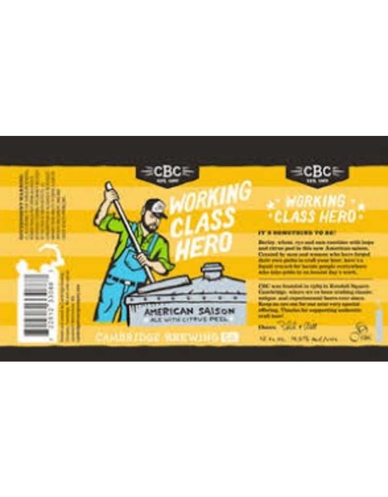 USA Cambridge Brewing Working Class Hero 6pk