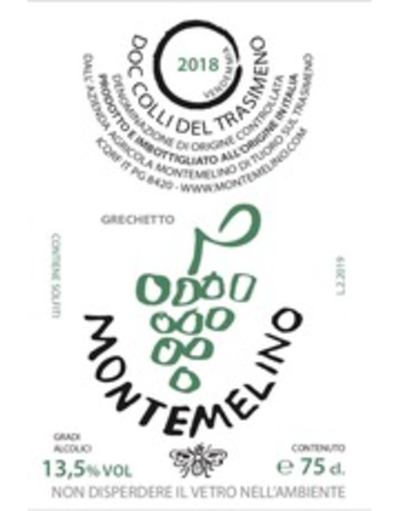 Italy 2018 Montemelino Colli del Trasimeno Grechetto