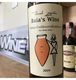 Georgia 2019 Baia's Wine Tsitska Tsolikouri Krahuna