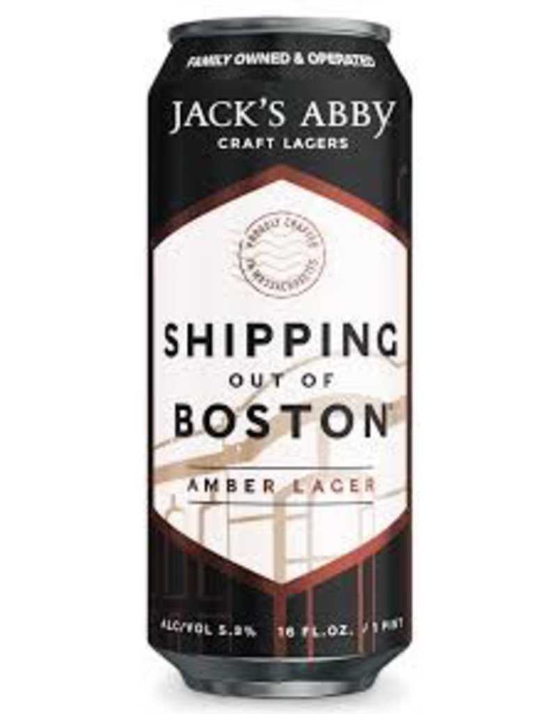 USA Jack's Abby Shipping Out Of Boston Amber Lager 6pk