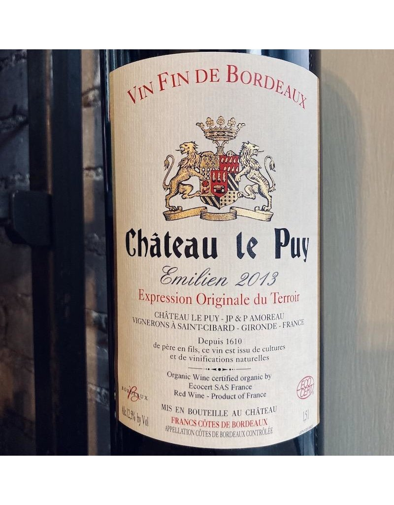 """France 2013 Chateau Le Puy """"Emilien"""" Cotes de Bordeaux 1.5L"""