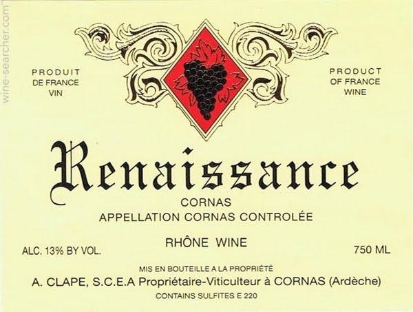"""2015 A. Clape Cornas """"Renaissance"""""""