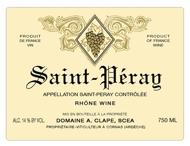 2016 A. Clape Saint Peray