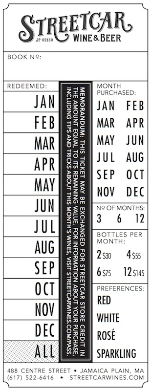 Monthly Pass Certificate - 4 bottles for 3 months