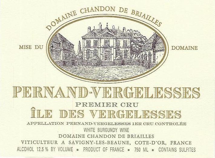 "2015 Chandon de Briailles Pernand Vergelesses 1er Cru ""Ile des Vergelesses Blanc"""