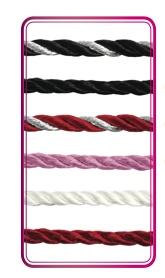 GemDrops 3mm Cream Silk Cord