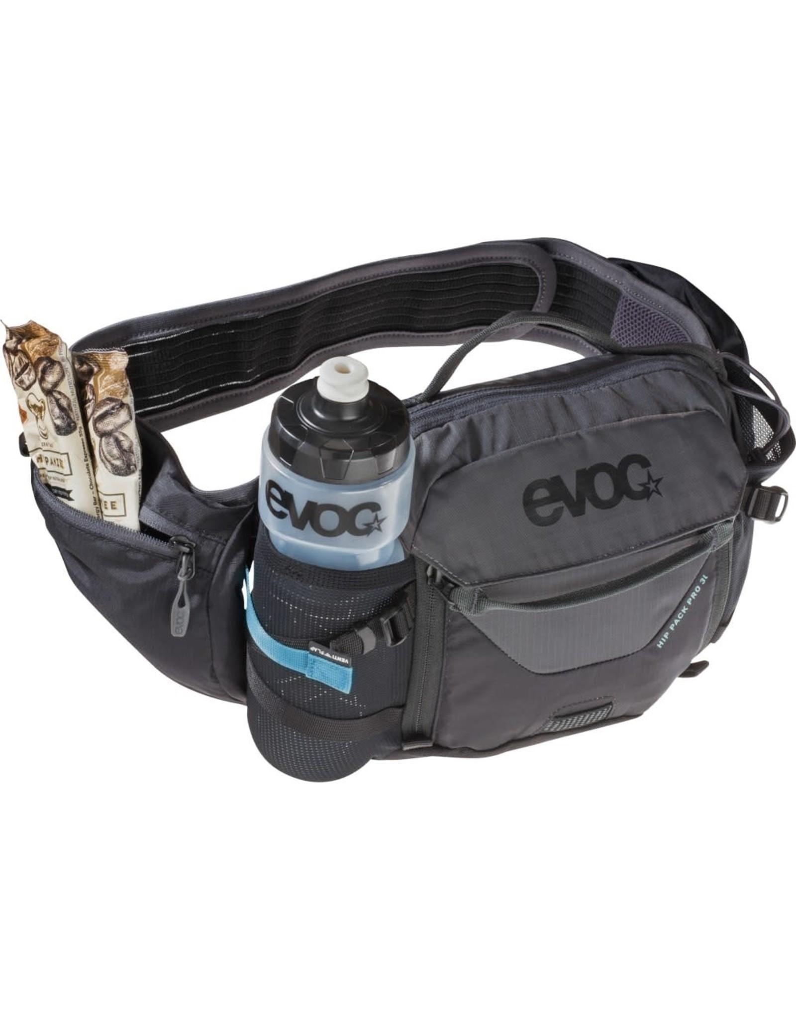 EVOC Sac d'hydratation, EVOC, Hip Pack Pro,  Volume: 3L, Reservoir inclus: 1.5L, Noir/Gris carbone