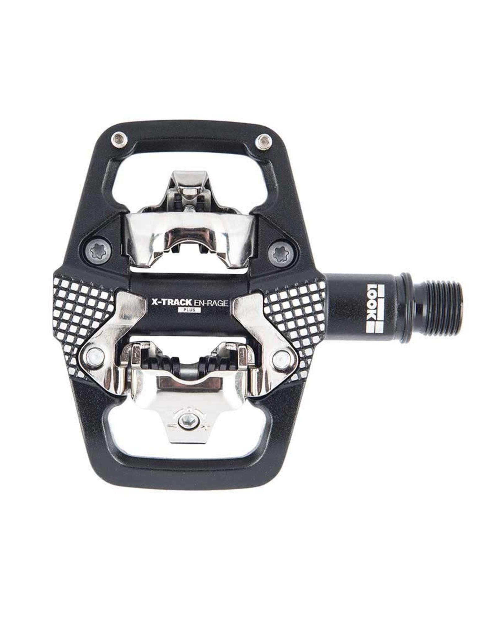 Look, X-Track En-Rage +, MTB Clipless Pedals, Aluminum body, Cr-Mo axle, 9/16'', Black