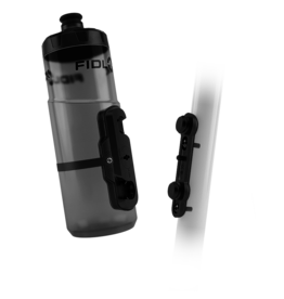 Fidlock BOUTEILLE FIDLOCK 600ML WITH BIKE BASE TRANSPARENT BLACK