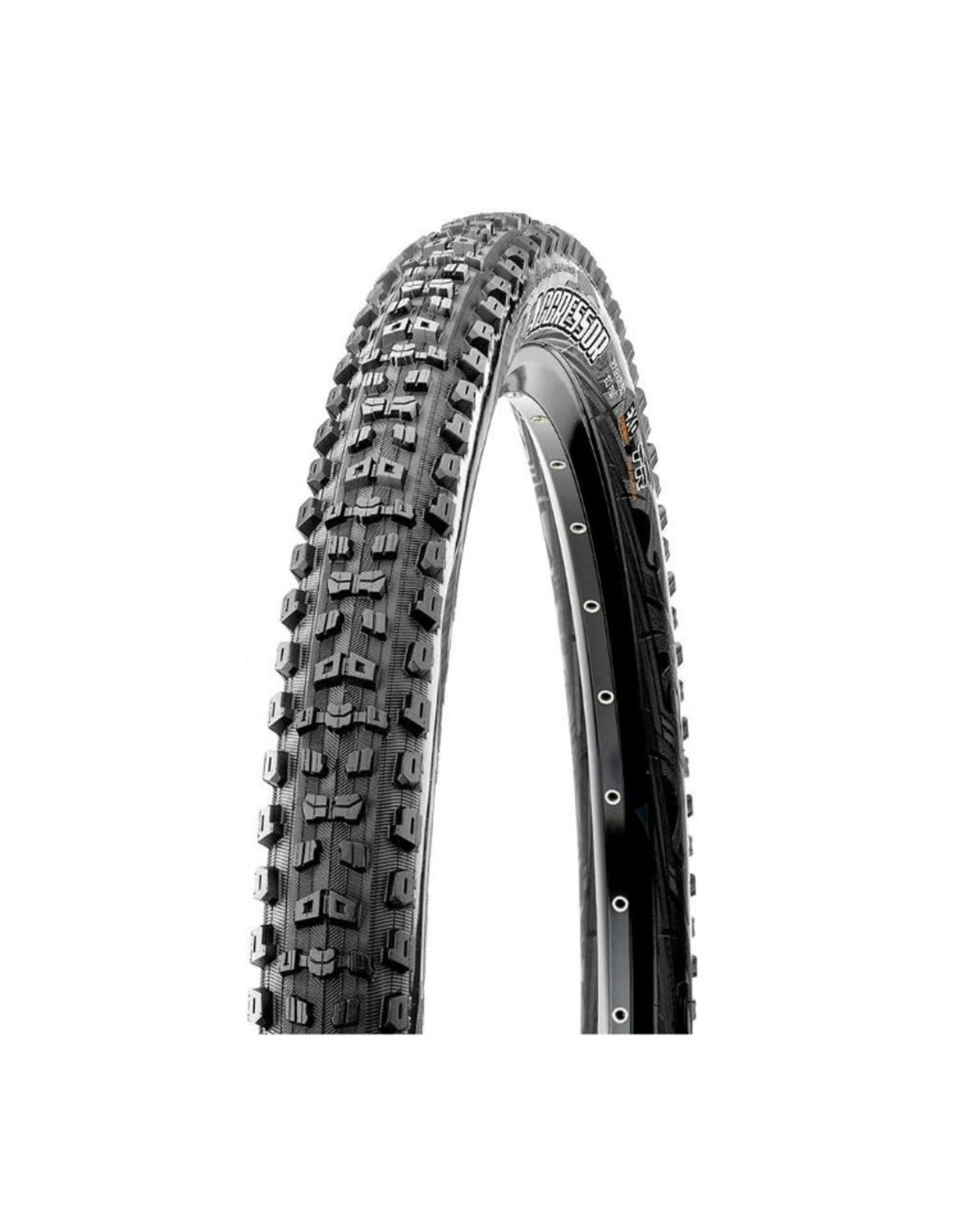 Maxxis PNEU - Maxxis, Aggressor, 27.5x2.30, Pliable, Dual, Double Down, Tubeless Ready, 120TPI, 60PSI, 1050g, Noir