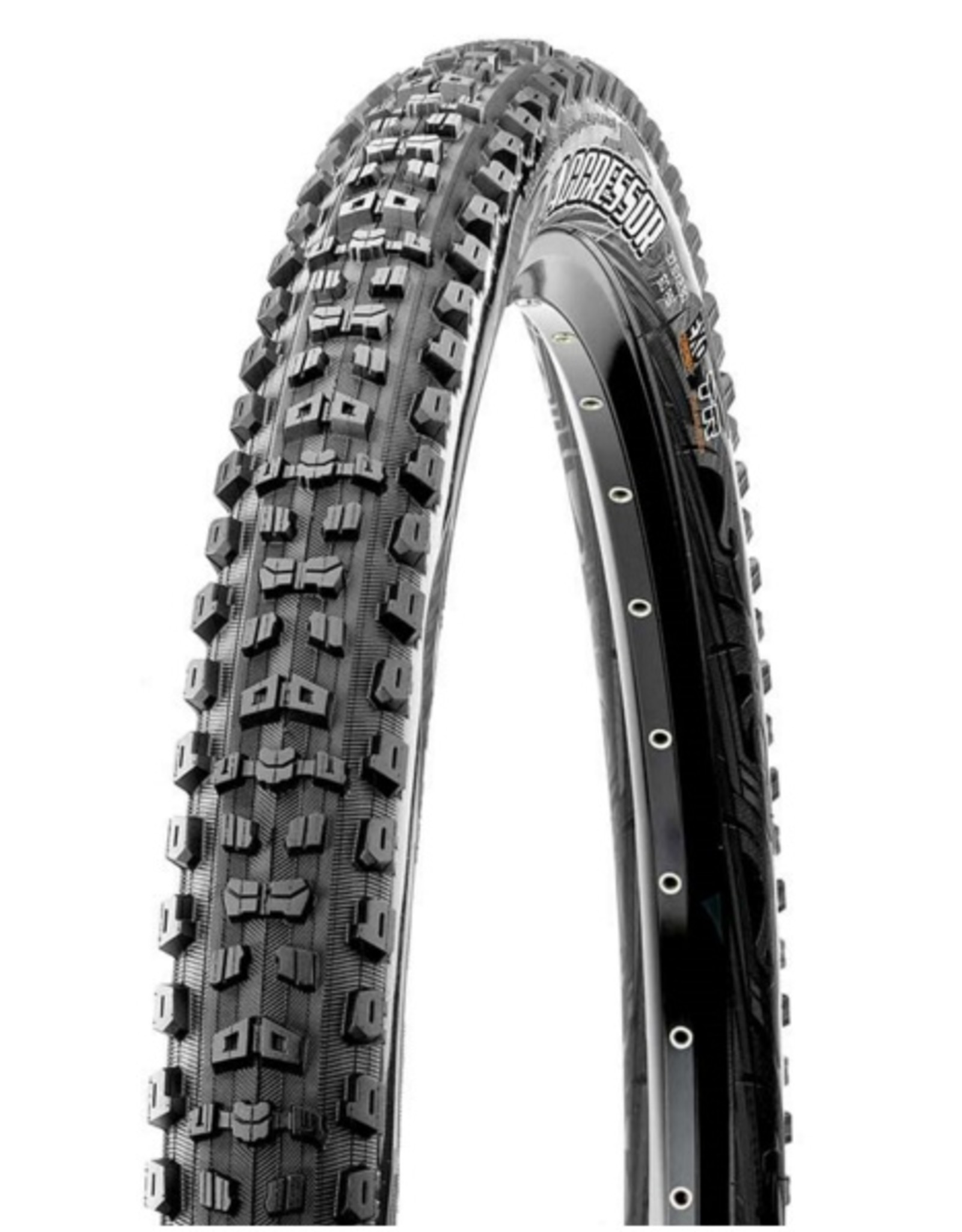 Maxxis Maxxis, Aggressor, 27.5x2.30, Folding, Dual, EXO, Tubeless Ready, 60TPI, 60PSI, 885g, Black