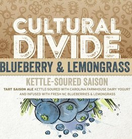 Haw River Farmhouse Ales 'Cultural Divide Blueberry & Lemongrass' Kettle-soured Saison 16oz (Can)