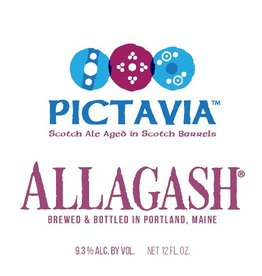 Allagash Brewing Co. 'Pictavia' 12oz Scotch Ale aged in Scotch Barrels Sgl