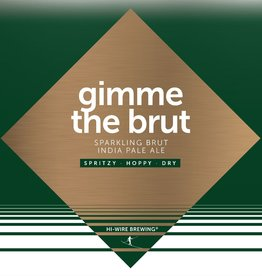 Hi-Wire Brewing 'Gimme the Brut' Sparkling DIPA 16oz (Can)