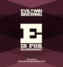 Evil Twin Brewing 'E is for Elderberry' Gose 16oz (Can)