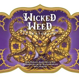 Wicked Weed 'Bramble Barrel' Gin Barrel-aged Sour Ale 500ml+